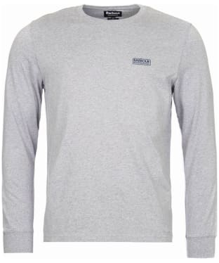 Men's Barbour International Long Sleeve Logo Tee - Grey Marl