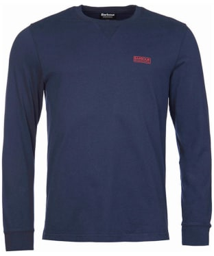Men's Barbour International Long Sleeve Logo Tee - Navy