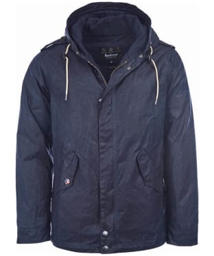 Men's Barbour Steve McQueen Shell Wax Parka - Navy