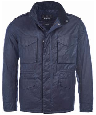 Men's Barbour Steve McQueen Field Wax Jacket - Navy