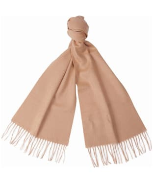 Barbour Plain Cashmere Scarf - Camel
