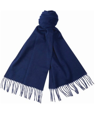 Barbour Plain Cashmere Scarf - Navy