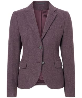 Women's GANT Twill Wool Blazer - Purple Wine