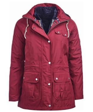Women's Barbour Throw Waterproof Jacket - Carmine