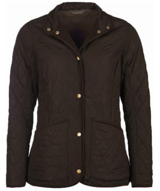 Women's Barbour Combe Polarquilt Jacket - Olive
