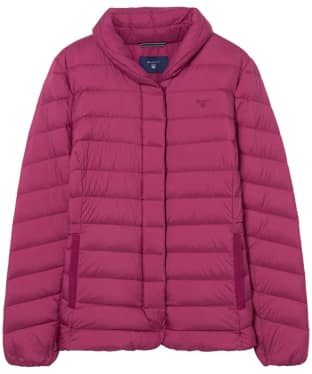 Women's GANT Lightweight Down Jacket - Raspberry Purple