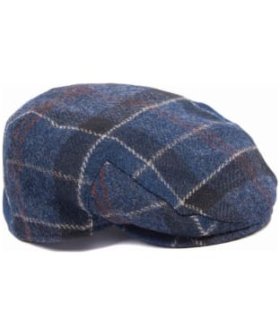 Men's Barbour Moons Tweed Cap - Navy Barb Tartan