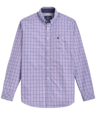 Men's Joules Hewney Classic Fit Shirt - Purple Mini Gingham