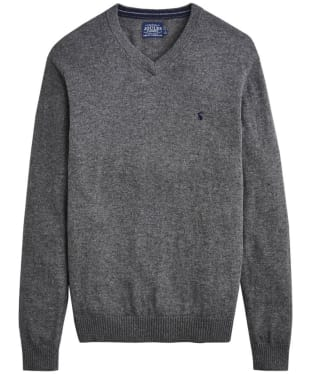 Men's Joules Retford V-Neck Jumper - Grey Marl