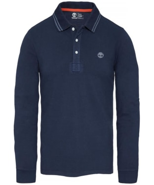 Men's Timberland Eastham Long Sleeve Polo Shirt - Dress Blue