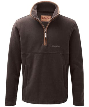 Men's Schoffel Berkeley 1/4 Zip Fleece - Espresso