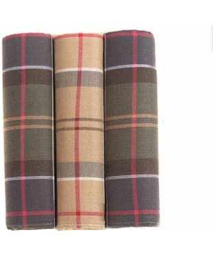 Men's Barbour Classic Tartan Handkerchief - Boxed Set of 3
