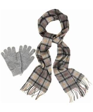 Men's Barbour Scarf and Glove Gift Box - Modern / Grey