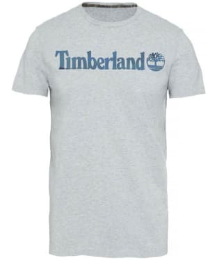 Men's Timberland Dustan River Camo Print Branded Tee - Grey Heather
