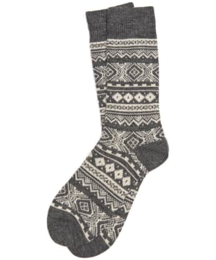 Men's Barbour Onso Fairisle Socks - Grey
