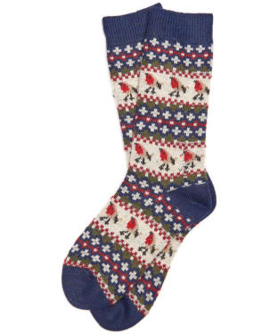 Women's Barbour Robin Fairisle Socks - Navy