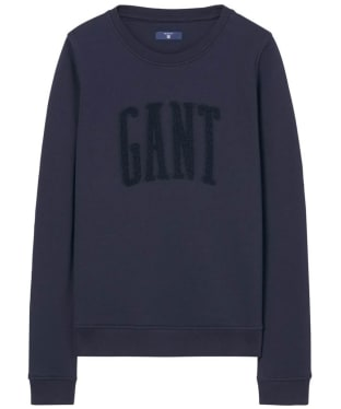 Women's GANT Chenille Sweatshirt - Evening Blue