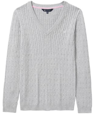 Women's Crew Clothing Heritage Cable Knit Sweater - Silver Grey Marl