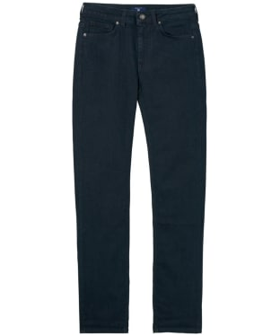 Women's GANT Straight Winter Denim Jeans - Dark Blue Worn In