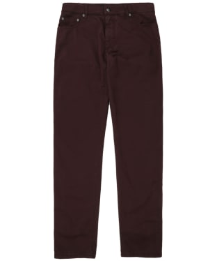 Men's Hackett Trinity Five-Pocket Chino Trousers - Damson