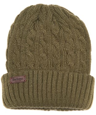 Men's Barbour Balfron Knit Beanie - Olive