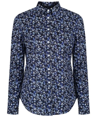 Women's GANT Stretch Broadcloth Mini Floral Shirt - Marine