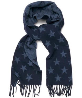 Men's GANT Star Lambswool Scarf - Marine