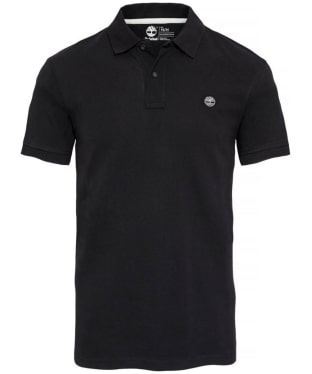 Men's Timberland Millers River Pique Regular Fit Polo Shirt - Black
