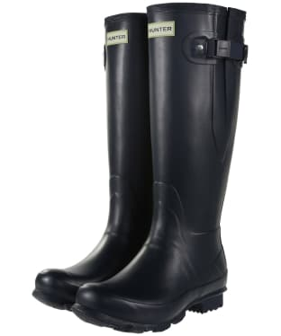 Women's Hunter Norris Field Side Adjustable Wellington Boots - Navy