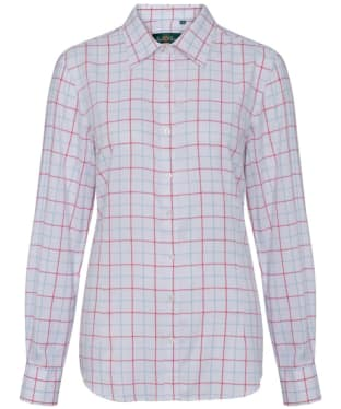 Women's Alan Paine Bromford Check Shirt - Blue / Red