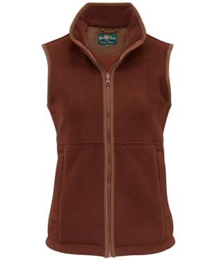Children's Alan Paine Aylsham Fleece Waistcoat, 3-16yrs - Russet