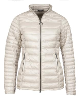 Women's Barbour Clyde Short Baffle Quilted Jacket - Mist