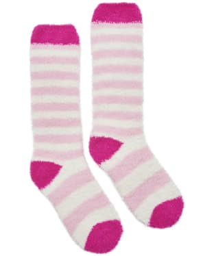 Girl's Joules Striped Fluffy Socks
