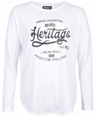 Women's Barbour International Heyford Tee - White