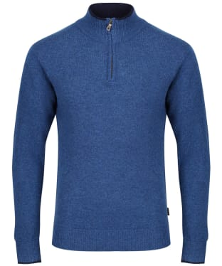 Men's Musto Shooting Zip Neck - Blue Lake