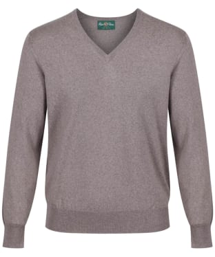 Men's Alan Paine Millbreck V-Neck Sweater - Mushroom