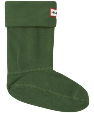 Hunter Kids New Fleece Welly Socks - Hunter Green