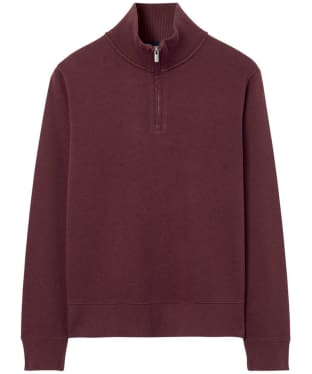 Men's GANT Sacker Half-Zip Sweatshirt - Dark Burgundy Melange