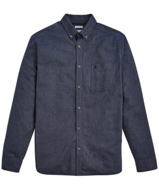 Men's Joules Barbrook Long Sleeve Flannel Shirt - Navy
