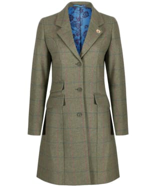 Women's Alan Paine Combrook Tweed Mid Length Coat - Juniper