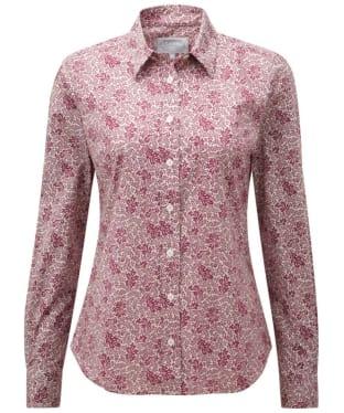 Women's Schoffel Suffolk Shirt - Fern Burgundy