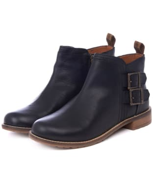 Women's Barbour Sarah Low Buckle Boots - Black