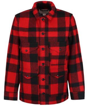 Men's Filson Mackinaw Wool Cruiser Jacket - Red / Black Plaid