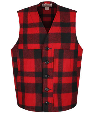 Men's Filson Mackinaw Wool Vest - Red / Black Plaid