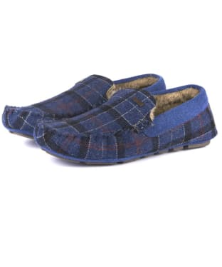 Men's Barbour Monty Thinsulate Slippers - Navy Tartan