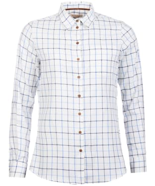 Women's Barbour Triplebar Shirt - Oxford Blue Check