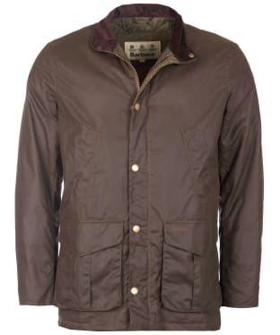 Men's Barbour Hereford Wax Jacket - Peat