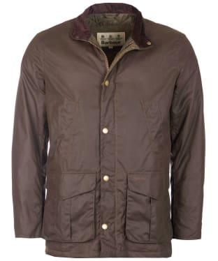Men's Barbour Hereford Wax Jacket - Peat