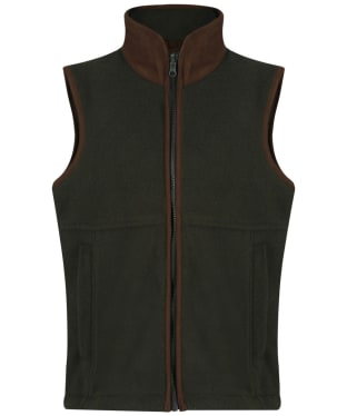 Children's Alan Paine Aylsham Fleece Waistcoat, 3-16yrs - Green