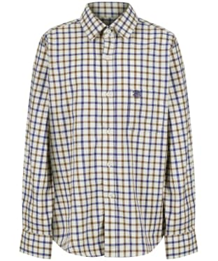 Boy's Alan Paine Ilkley Shirt, 3-16yrs - Brown Check